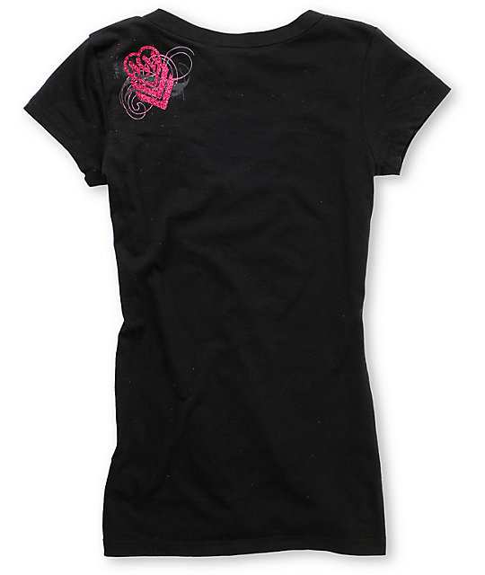 Metal Mulisha Daunting Black V-Neck T-Shirt
