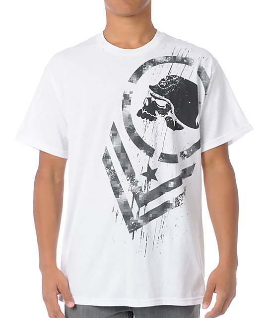 Metal Mulisha Digital Warfare White T-Shirt