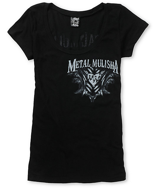 Metal Mulisha Enlightened Black Scoop Neck T-Shirt