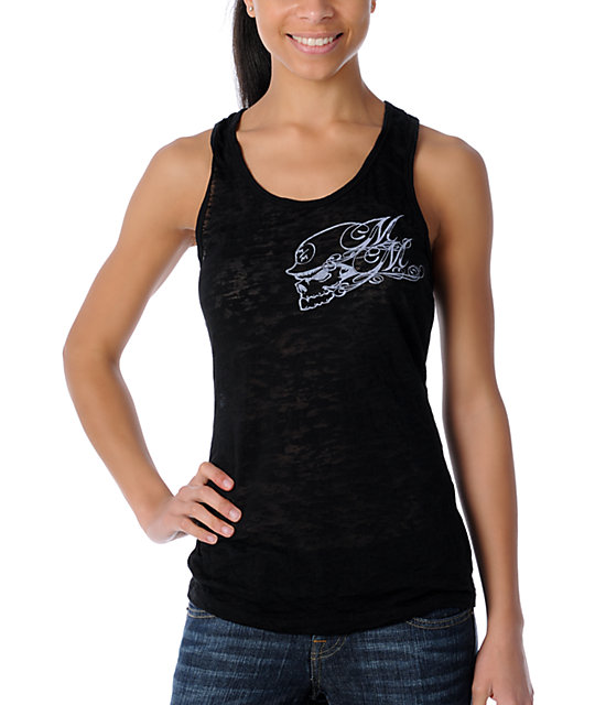 Metal Mulisha Eulogy Black Burnout Tank Top