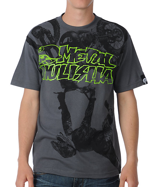 Metal Mulisha Flipped Charcoal T-Shirt