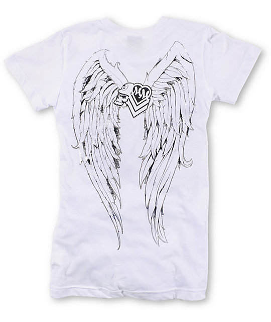 Metal Mulisha Hot Wings White T-Shirt