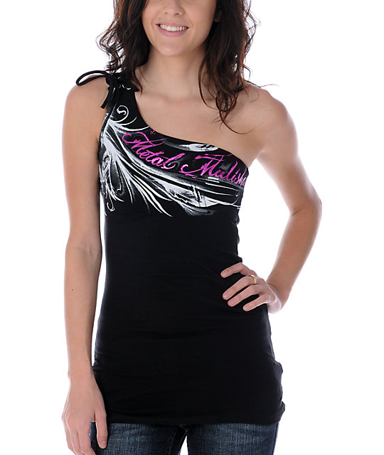Metal Mulisha Kali One Black Shoulder Tank Top