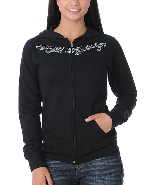 Metal Mulisha Over The Top Black Zip Up Hoodie