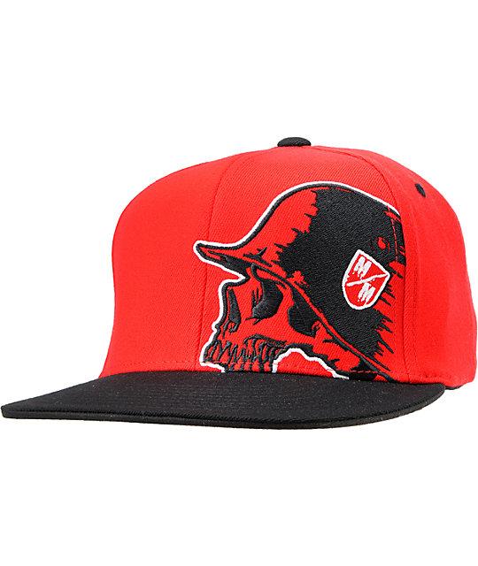 874fafe6301e4 Metal Mulisha Ramble Red   Black Flexfit Hat