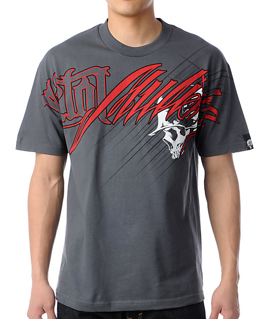Metal Mulisha Reppin Charcoal T-Shirt