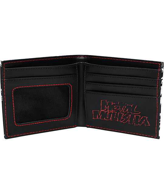 Metal Mulisha Requirement Black & Red Bifold Wallet