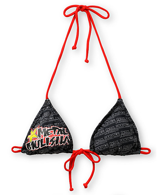 Metal Mulisha Rockstar Triangle Bikini Top
