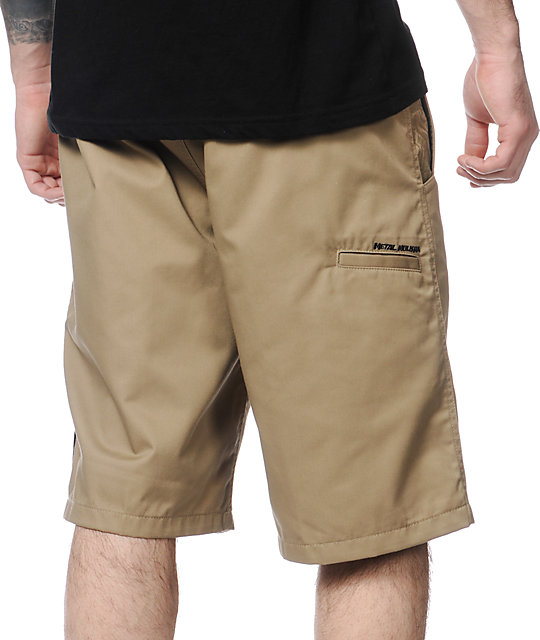 Metal Mulisha Sixth Edition Khaki Chino Shorts