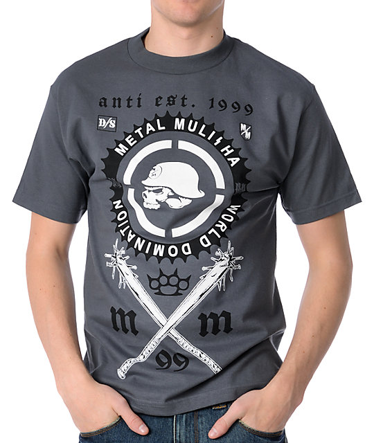 Metal Mulisha Sprocket Charcoal T-Shirt