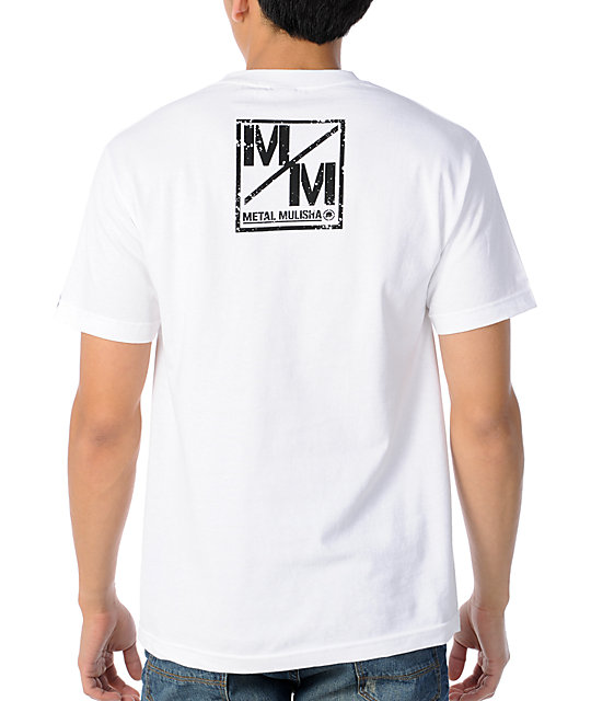 Metal Mulisha Stripes White T-Shirt