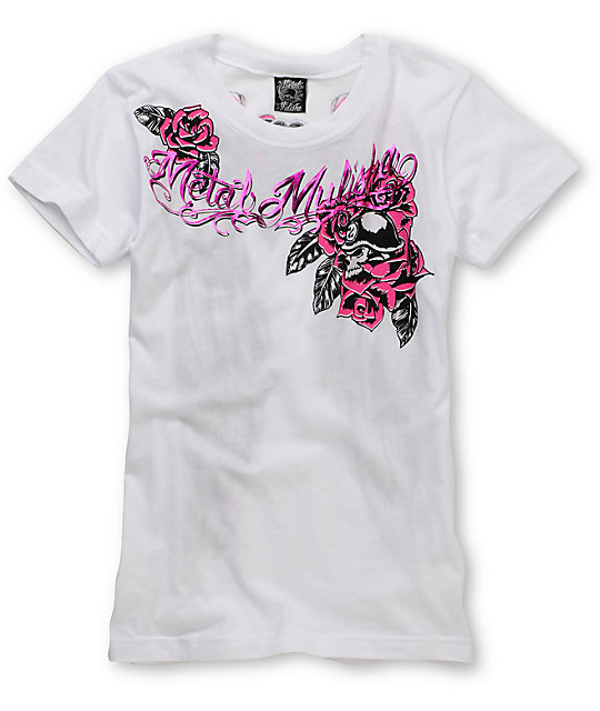 Metal Mulisha Versatile White T-Shirt