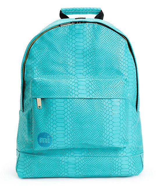 b330c1cb07d Mi-Pac Gold Teal Python Backpack | Zumiez