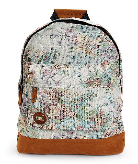 Mi Pac Premium Rose Tapestry Backpack