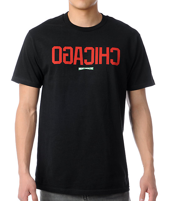 Mighty Healthy Chicago Black T-Shirt