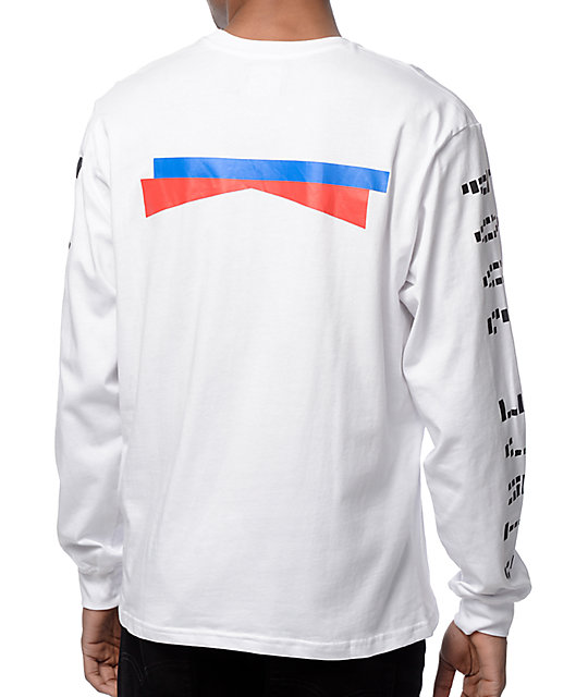 Mighty Healthy Drifter White Long Sleeve T-Shirt