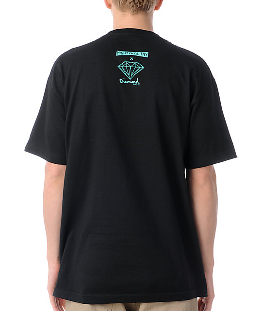Mighty Healthy x Diamond Supply Diamond Black T-Shirt