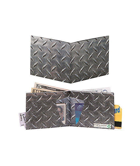 Mighty Wallet Diamond Plate Bifold Wallet