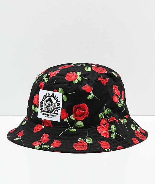 Milkcrate Black Roses Bucket Hat
