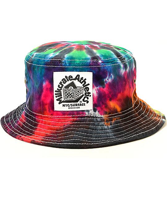 f26d47e66 Milkcrate Rainbow Tie Dye Bucket Hat