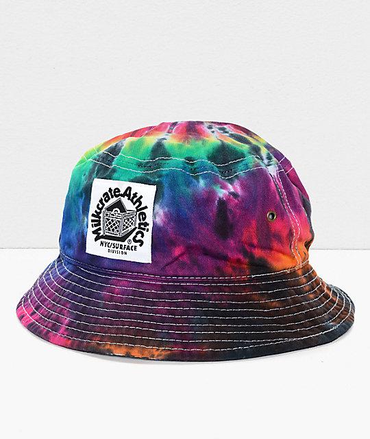 87c1676a5fe Milkcrate Tie Dye Bucket Hat