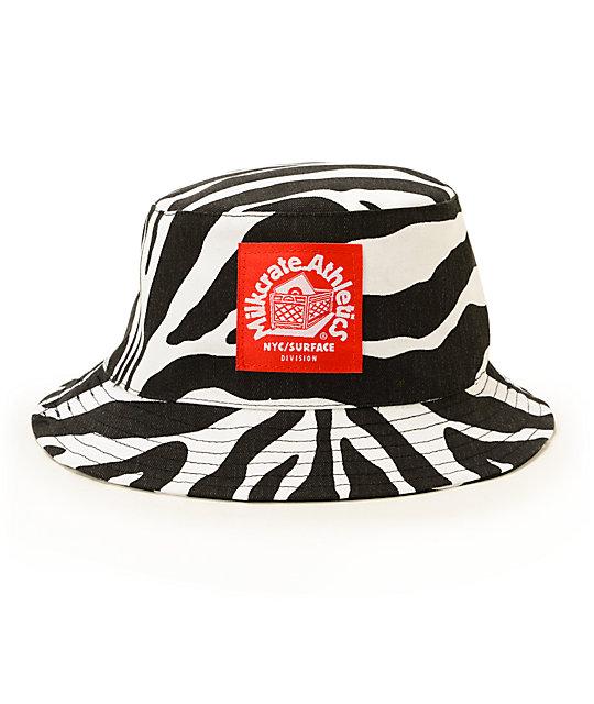 7fe9e137afe70 Milkcrate Zebra Bucket Hat
