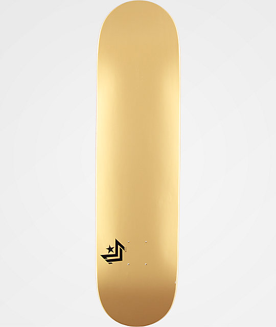 Mini Logo Gold Chevron 80 Skateboard Deck Zumiez