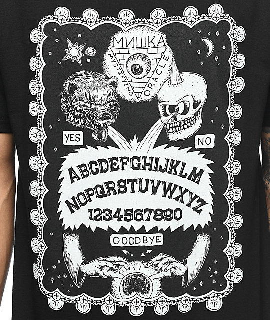 Mishka Mystifying Oracle camiseta negra