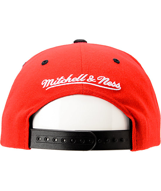 Mitchell & Ness Bulls Arch Gradient Red Snapback Hat
