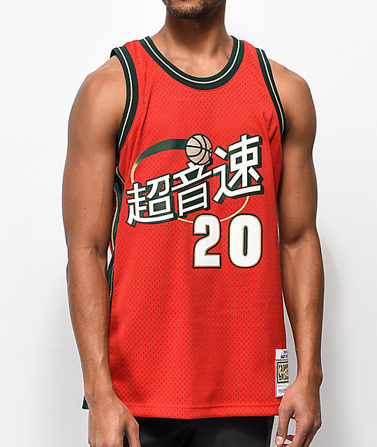 208f90678f2 Mitchell & Ness Payton Sonics Chinese New Year Basketball Jersey | Zumiez