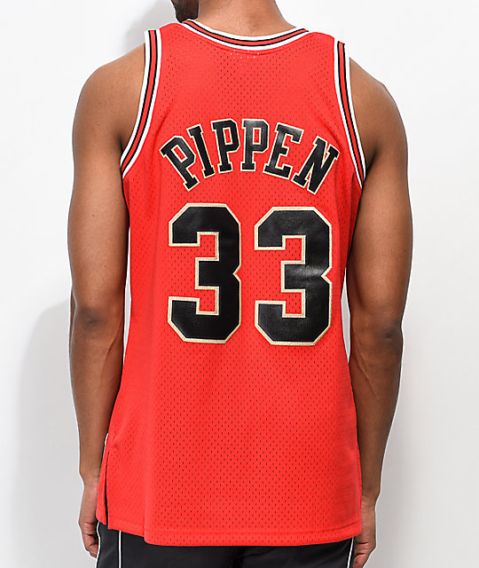 hot sale online a3f8d 83817 Mitchell & Ness Pippen Chicago Bulls Chinese New Year Basketball Jersey