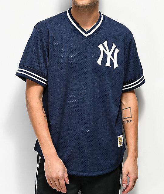 Mitchell   Ness Yankees Navy Mesh Jersey  15eb07bf306