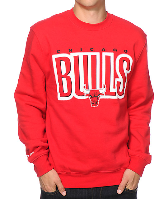 Mitchell and Ness Chicago Bulls Retro Crew Neck Sweatshirt  a1a4b5d44278