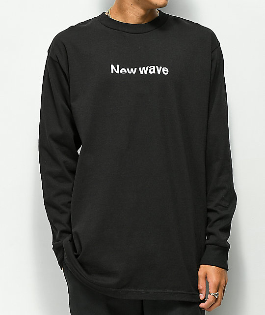 Moodswings New Wave Black Long Sleeve T-Shirt