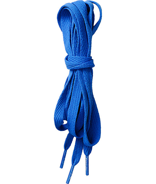 running shoes quality the cheapest Mr. Lacy Flatties Blue Shoe Laces | Zumiez.ca