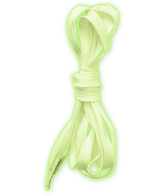 Mr. Lacy Flatties White Glow In The Dark Shoe Laces