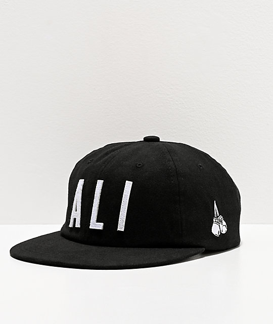 Muhammad Ali x Diamond Supply Co. Ali Sign Black Strapback Hat