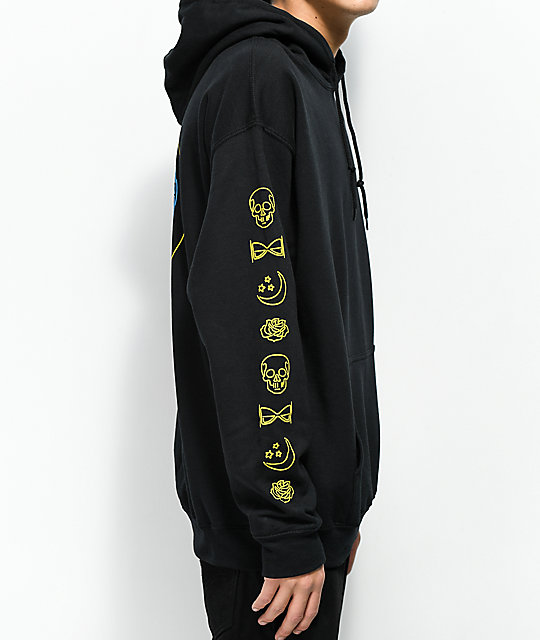 N°Hours After Midnight Black Hoodie