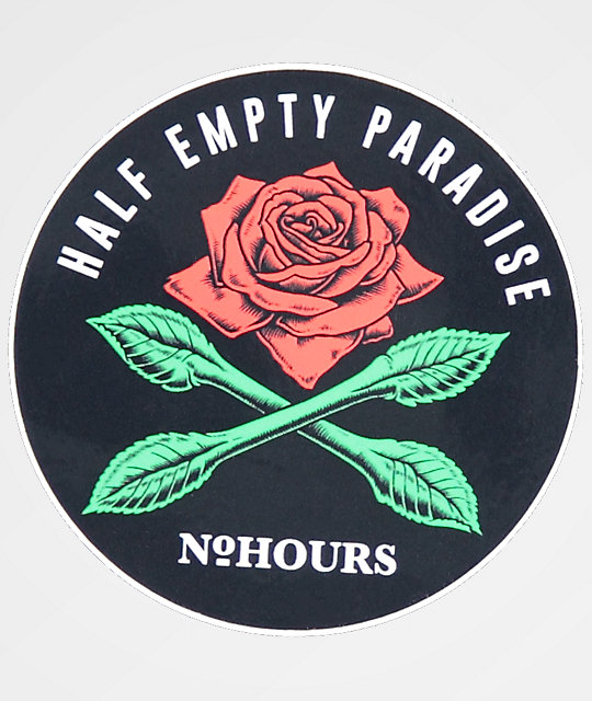 N°Hours Half Empty Paradise pegatina