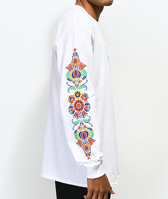 N°Hours Sleep White Long  Sleeve T-Shirt