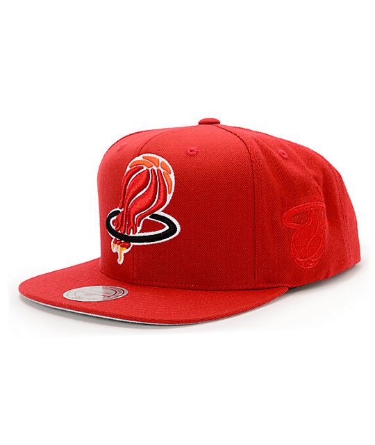 Nba Hall Of Fame X Mitchell And Ness Upside Down Heat Red Snapback