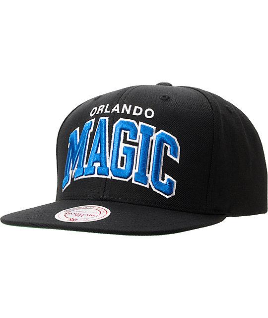 best service cd7a8 e953d NBA Mitchell And Ness Orlando Magic Black Arch Snapback Hat   Zumiez