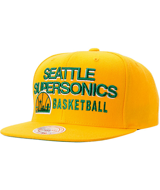 NBA Mitchell And Ness Seattle Supersonics Blocker Snapback Hat