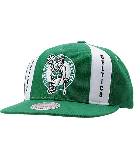9682ca7f721 NBA Mitchell and Ness Boston Celtics Snapback Hat