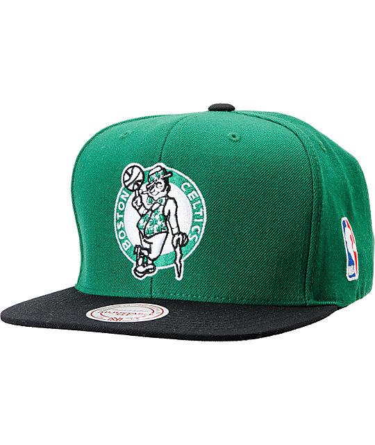 best service 3552a a173f ... netherlands hat kelly green black nba mitchell and ness boston celtics  standard logo green snapback b9cba ...