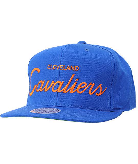 f935181a07c NBA Mitchell and Ness Cavaliers Script Snapback Hat