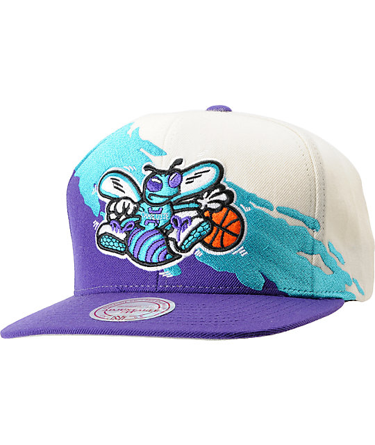 f33645cb990d4 ... sweden nba mitchell and ness charlotte hornets paintbrush snapback hat  c3535 a39f6