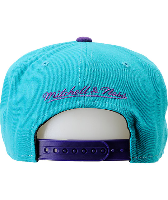 NBA Mitchell and Ness Charlotte Hornets Sharktooth Snapback Hat