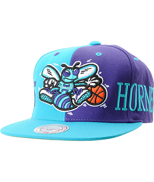 NBA Mitchell and Ness Charlotte Hornets The Split Snapback Hat