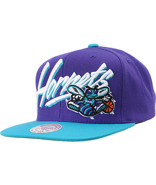 NBA Mitchell and Ness Charlotte Hornets Vice Snapback Hat